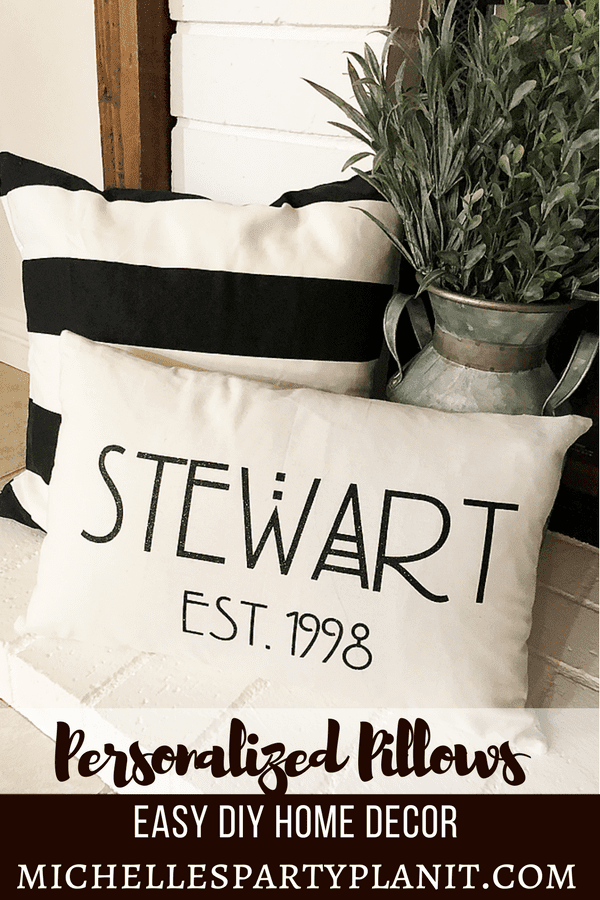 How to Make Personalized Pillows - Easy DIY Home Decor