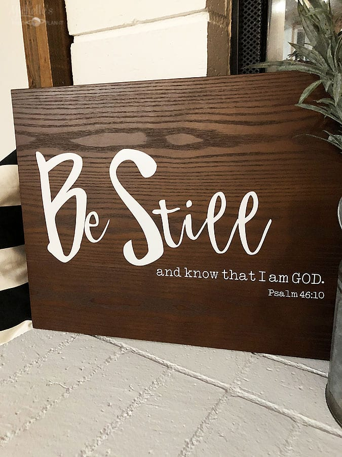 DIY Scripture Sign