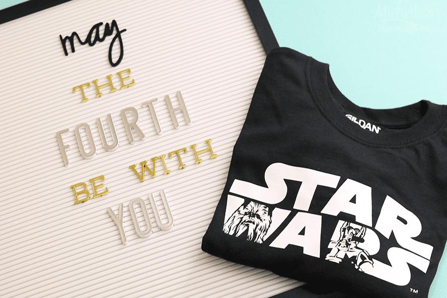 DIY Star Wars Shirts with Cricut