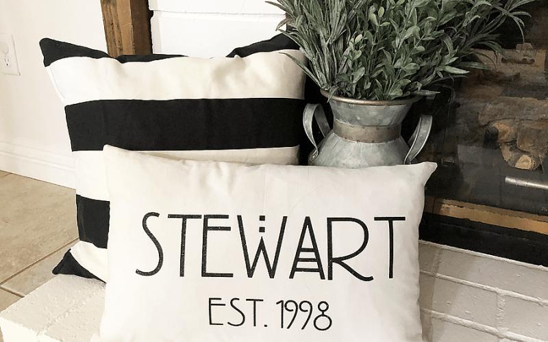 Personalized pillow cricut