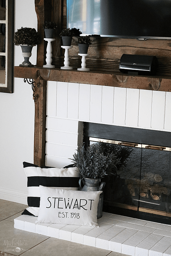 Painted FIreplace Brick - Family Room Refresh on a Budget