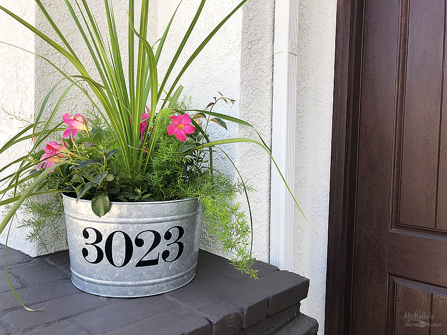 DIY Address Planter Tutorial