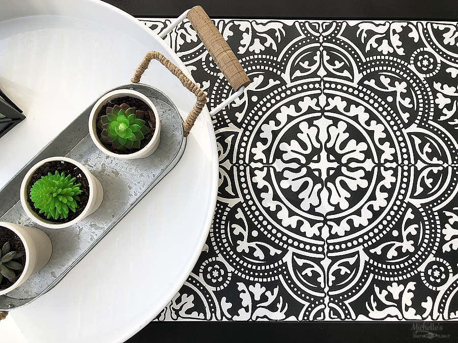 How To Stencil Tile With Vinyl and Cricut by Michelle Stewart