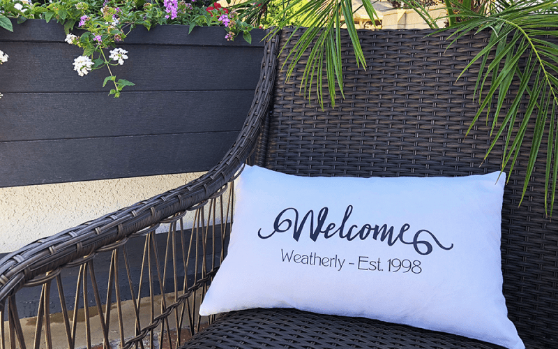 Easy DIY Personalized Welcome Pillow