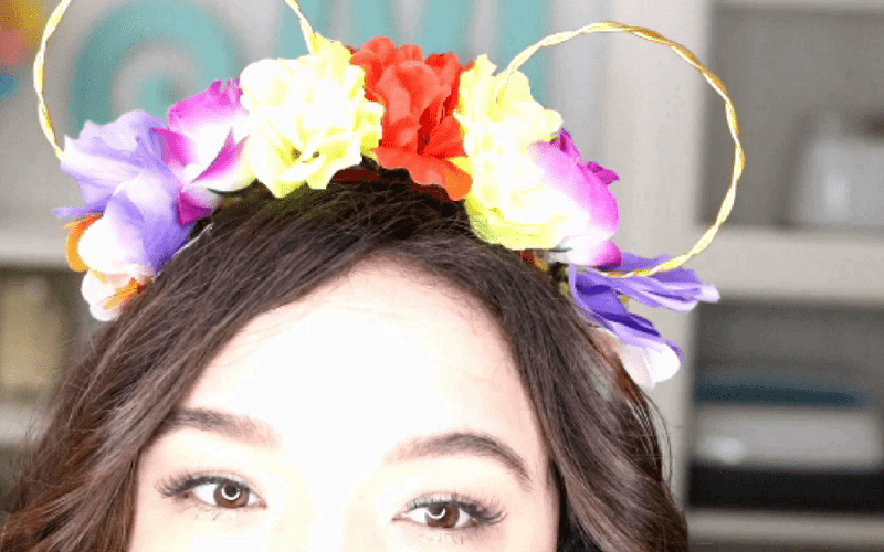 DIY Floral Minnie Mouse Ears in Less than 20 Minutes