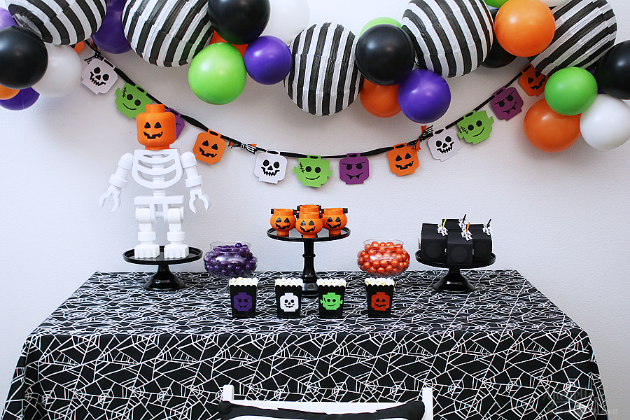 Lego Brick or Treat Halloween Party Table Decorations