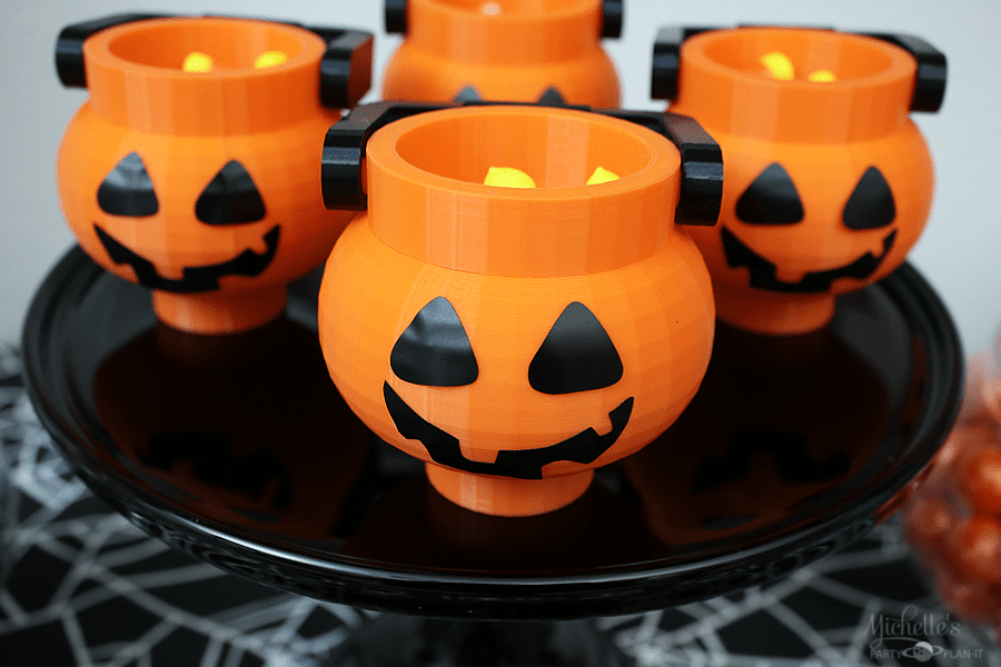 Lego Halloween Party Candy Buckets