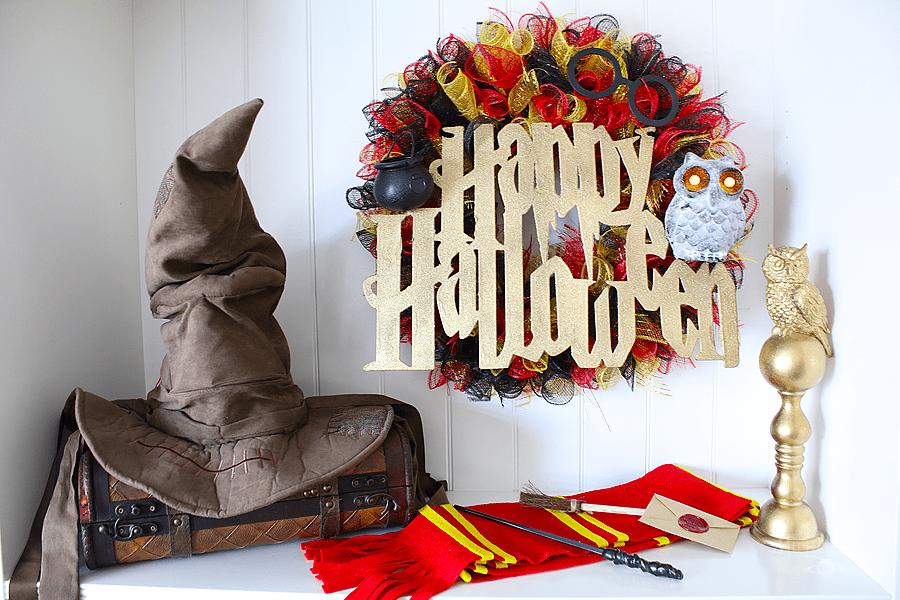 Halloween Harry Potter Wreath – Dollar Tree DIY