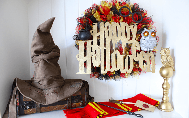Halloween Harry Potter Wreath – Dollar Tree DIY