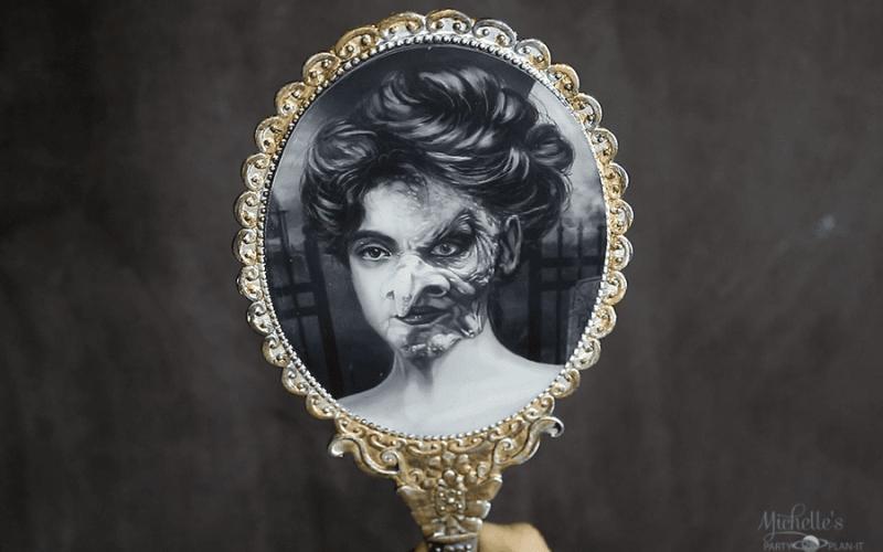 Budget Friendly DIY Haunted Mirror Halloween Prop