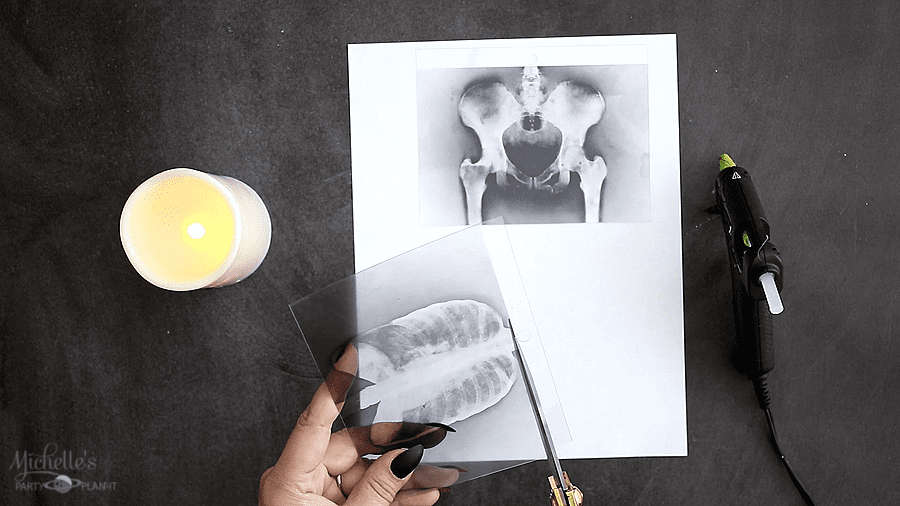 DIY XRAY HALLOWEEN CANDLES paper