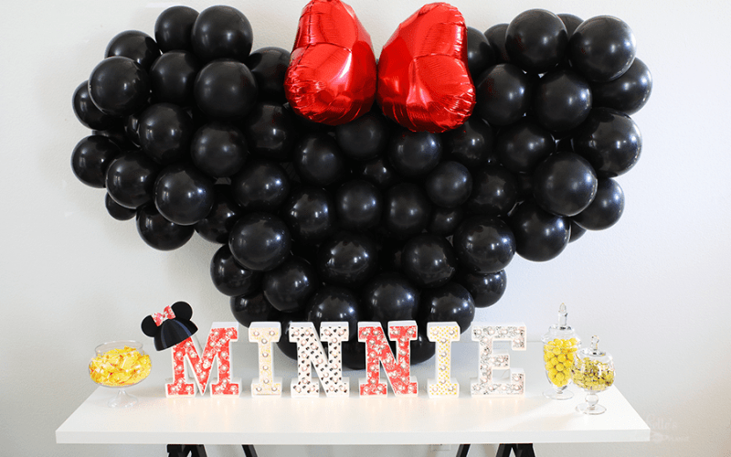 Minnie mouse party backdrop