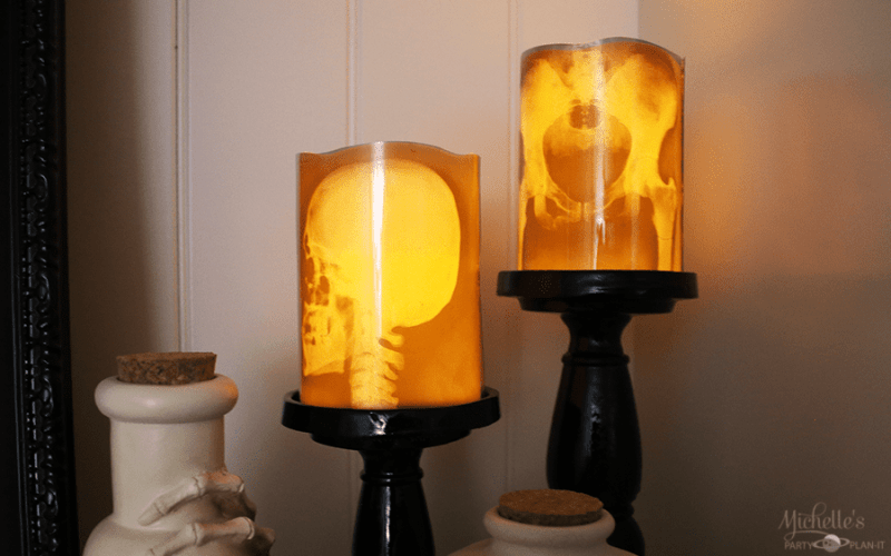 How to Make X-Ray Halloween Candles in Under 15 Minutes