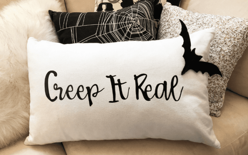 Creep it real halloween pillow