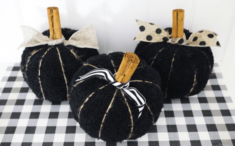 Diy fabric pumpkins 1