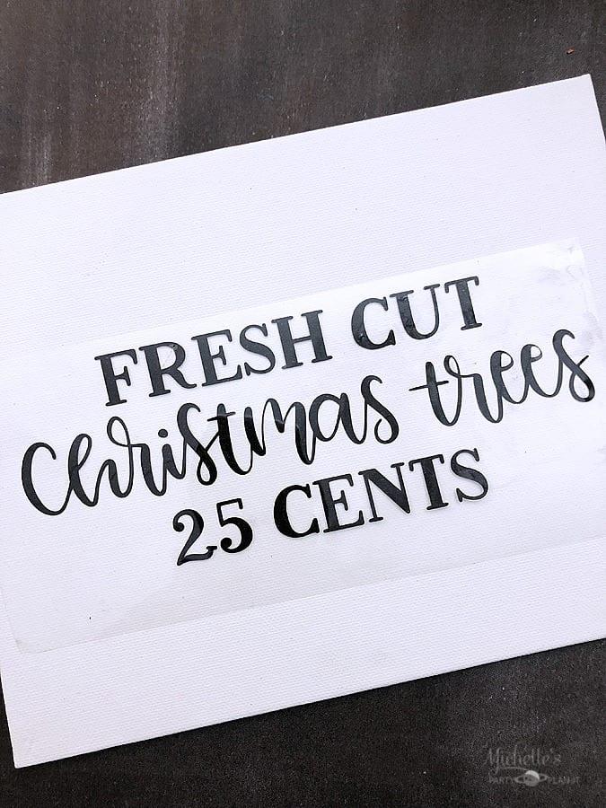DIY Farmhouse Christmas Sign Iron On