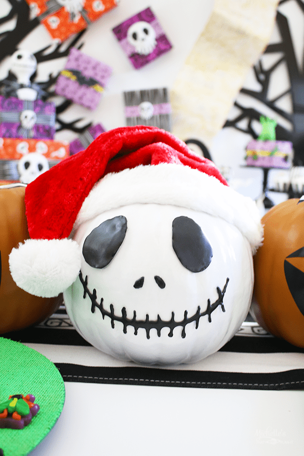 DIY Jack Skellington Pumpkin
