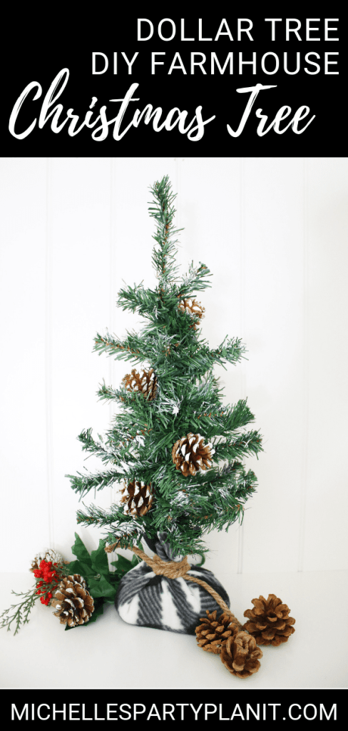 Dollar Tree DIY Farmhouse Christmas Tree