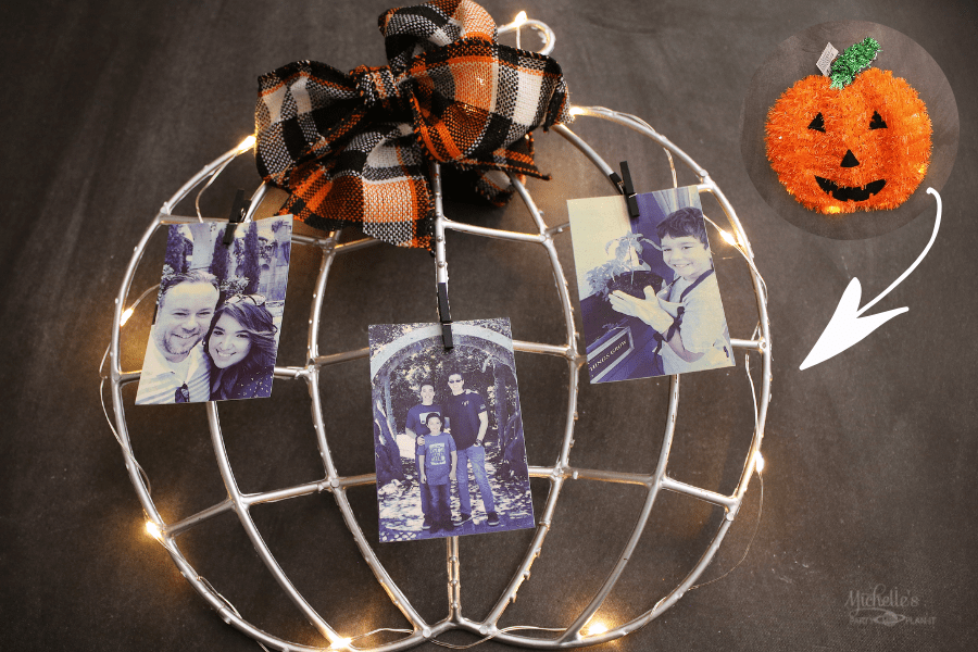 How to Make A Fall Photo Holder from a $1 Halloween Decoration