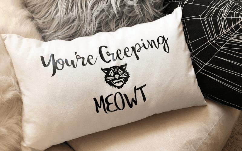 Youre creeping meowt pillow