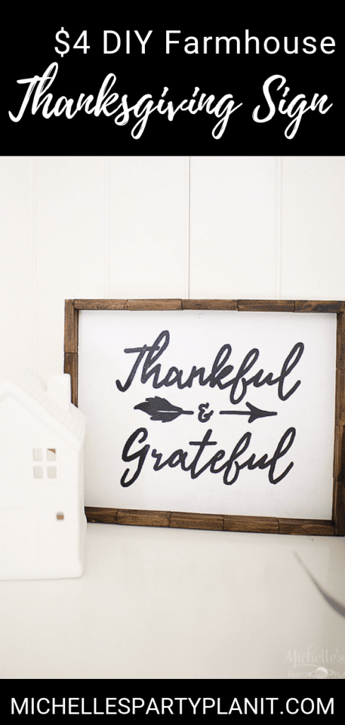 DIY $4 Thanksgiving Sign