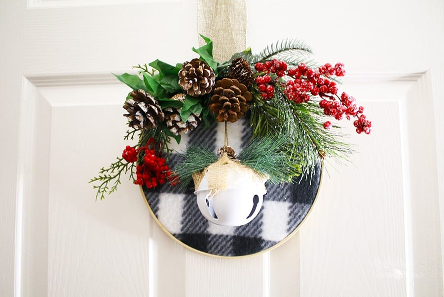 DIY Embroidery Hoop Christmas Wreath Idea by Michelle Stewart