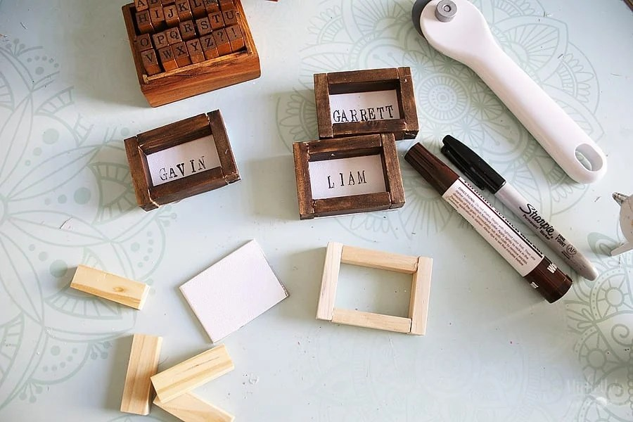 DIY Farmhouse Placecards Supplies