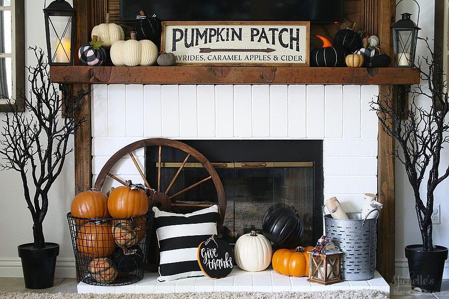 Fall thanksgiving mantle ideas