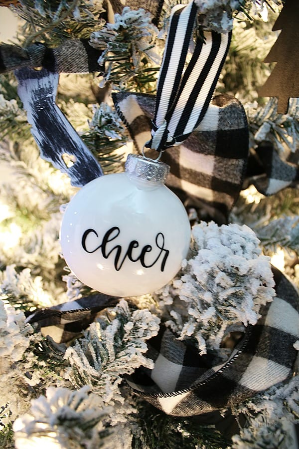 DIY Cheer Christmas Tree Ornaments