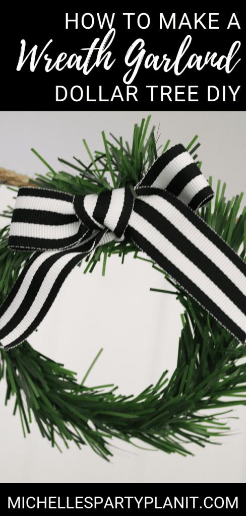 How to make a wreath garland dollar tree christmas diy