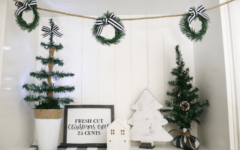 How to Make a Wreath Garland | Dollar Tree Christmas DIY