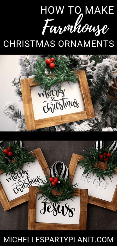 How to make farmhouse ornaments cricut dollar tree diy