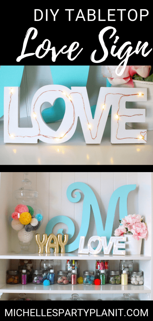 Diy tabletop love sign DOLLAR TREE DIY