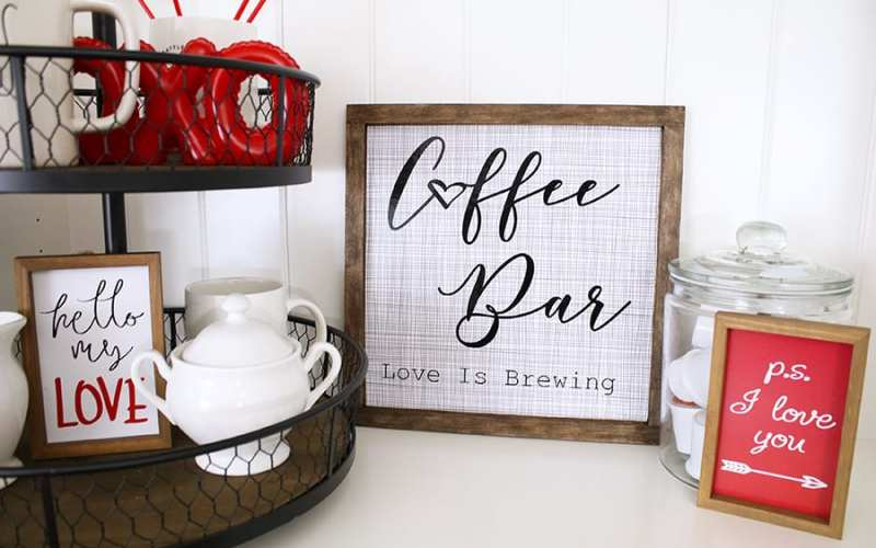 How to make a coffee bar sign with cricut