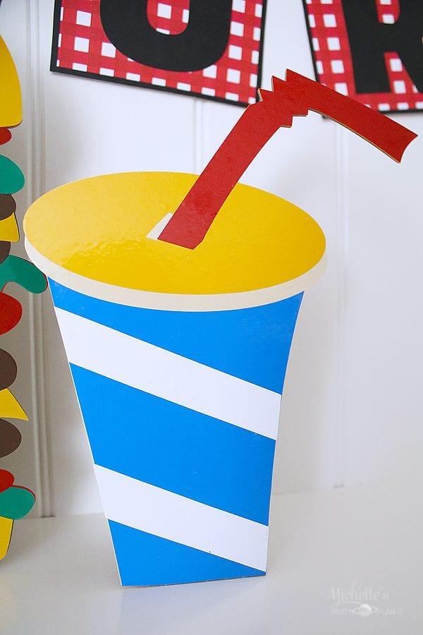 Cardboard stand up soda