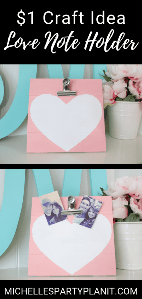 Diy love note holder