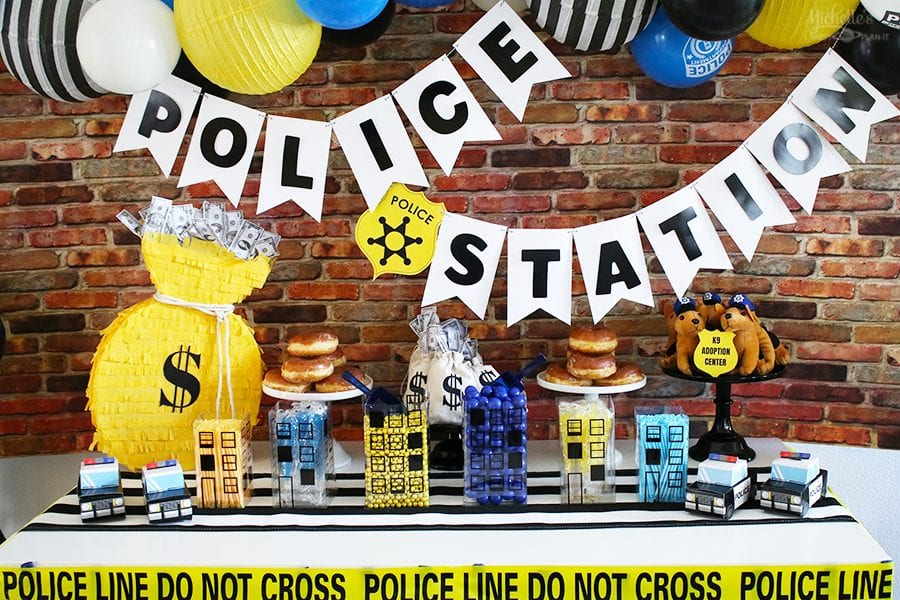 Police birthday party ideas