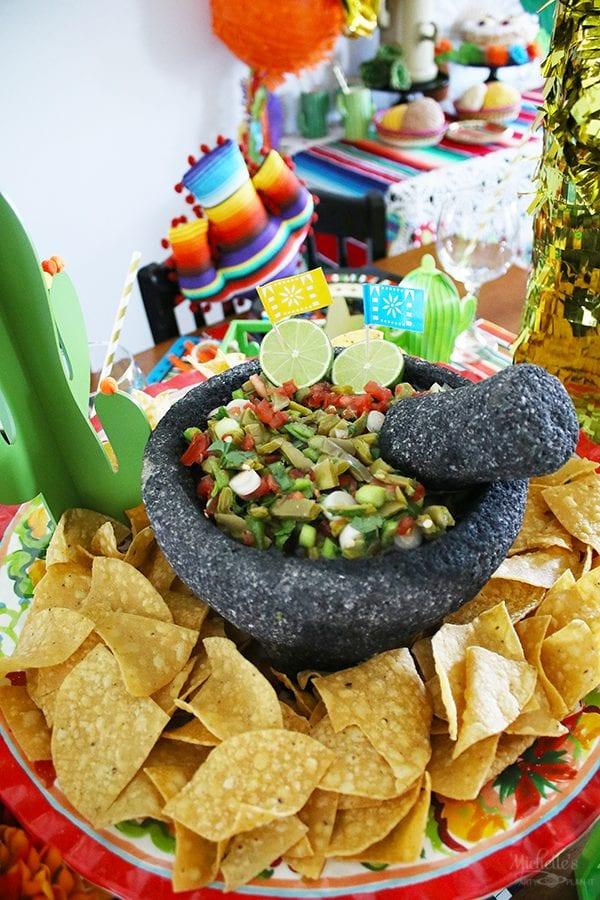 Nopales cactus salsa