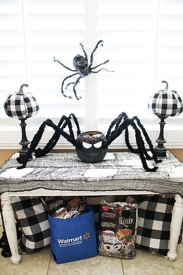Diy spider candy bowl 12
