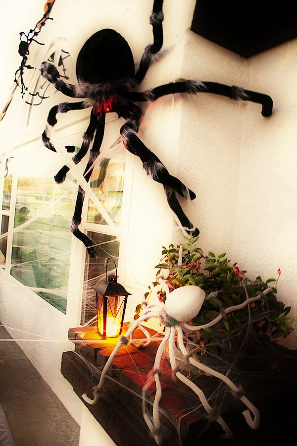 Easy spider porch decorating ideas 6