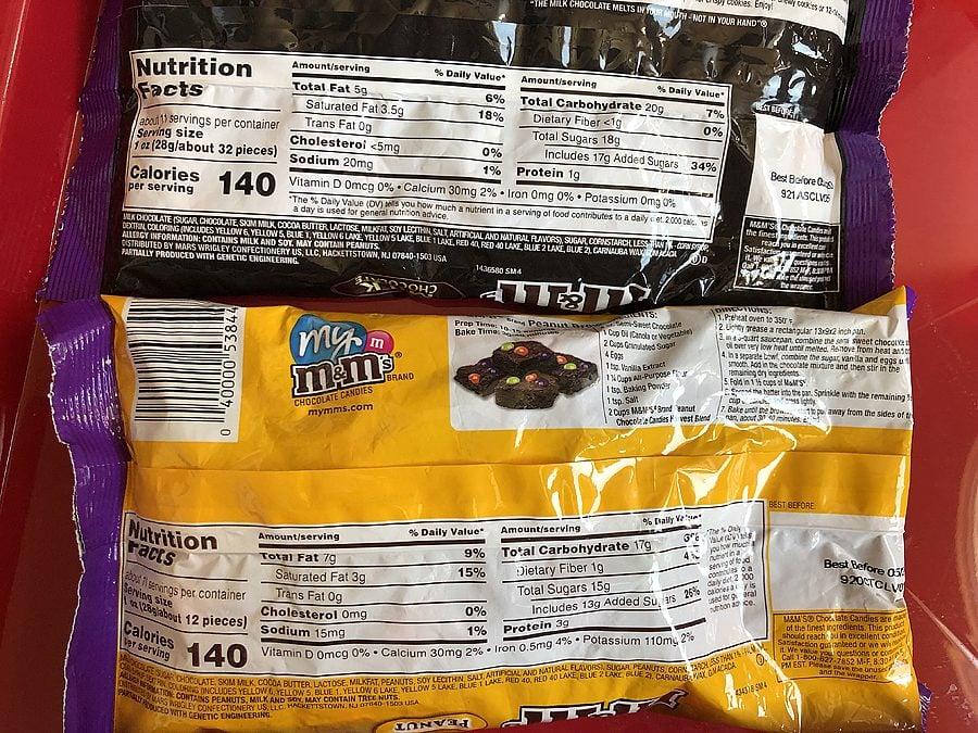 Mms nutritional info 1