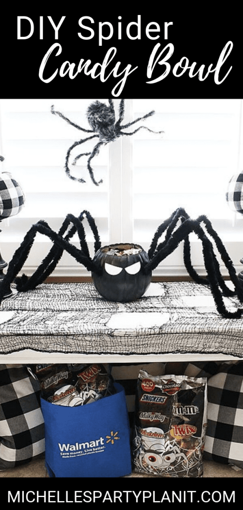 Diy spider candy bowl