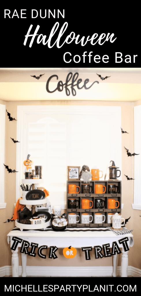 Rae dunn halloween coffee bar 1