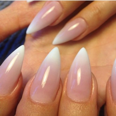 Stiletto nagels ombre