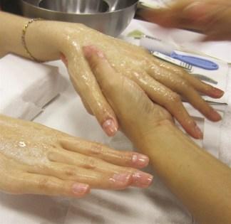 Spa manicure by CND