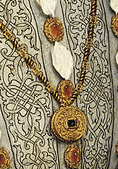 Henry 8th pictured wearing his pendant and jewels