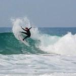 Jorge Marques durante un baño de free surf en el Palmar