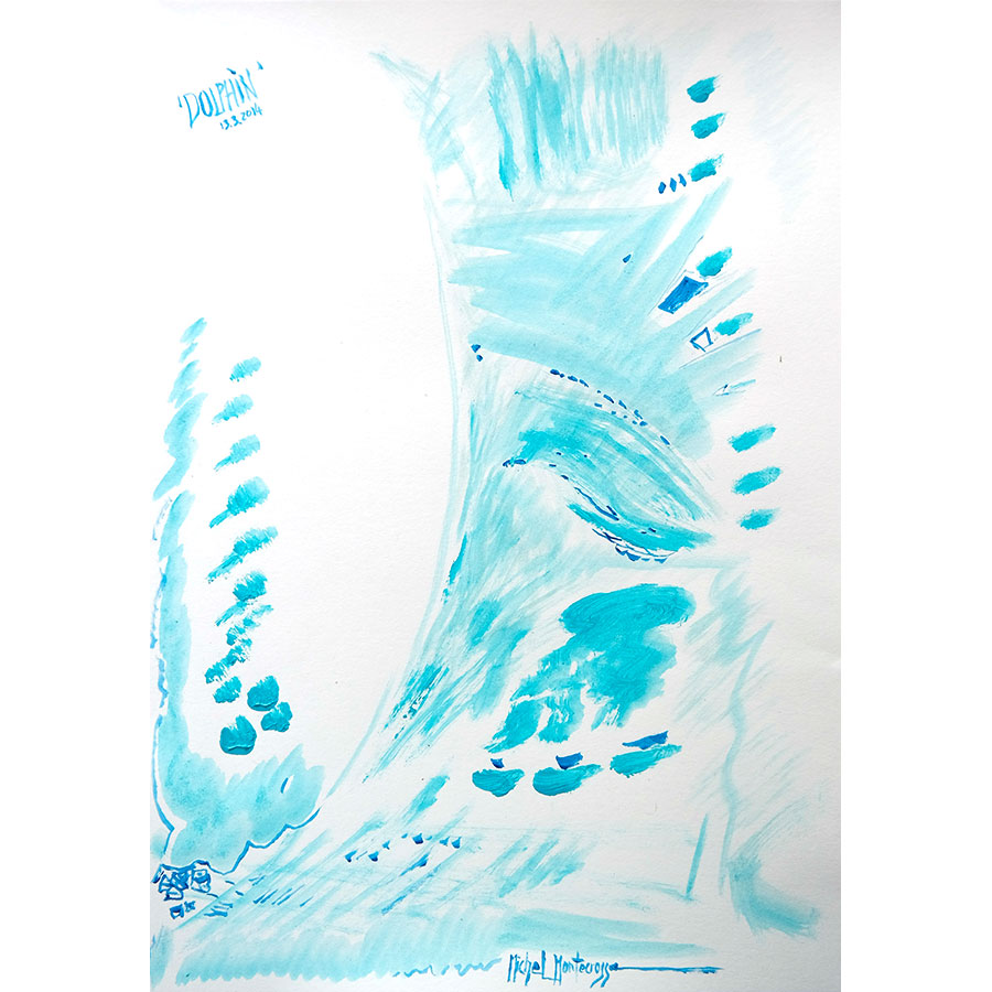 Dolphin - painting by Michel Montecrossa
