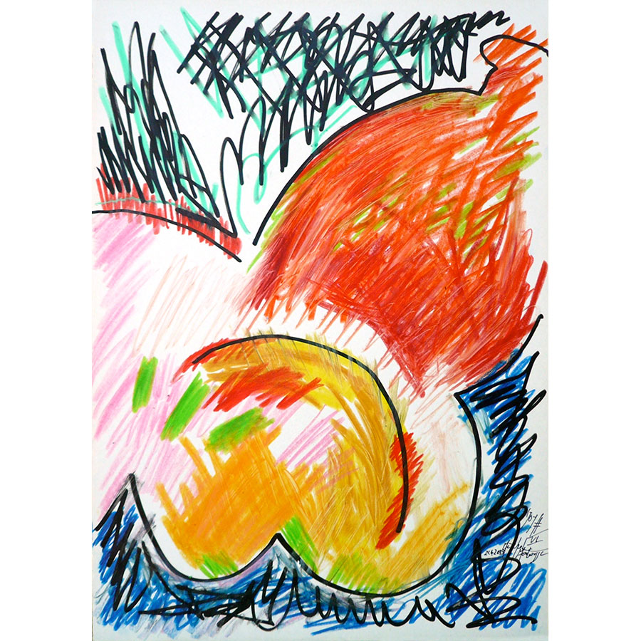 painting 'Joy #VI' by Michel Montecrossa, picture six from the series of the Seven Joys