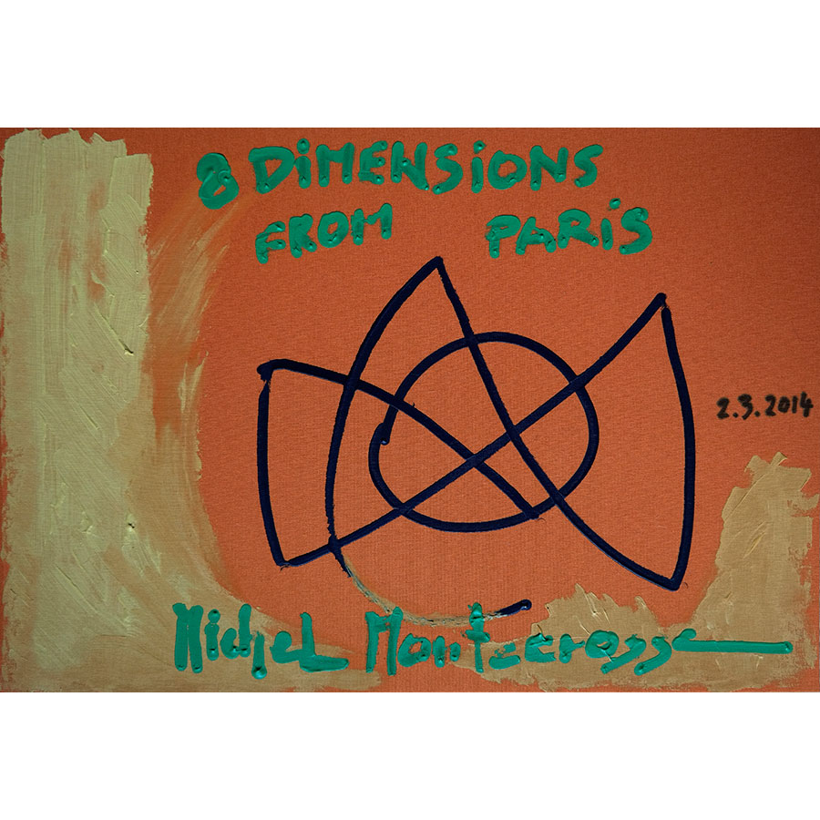 Michel Montecrossa's Box-Set, '8 Dimensions' Series Of Drawings From Paris, Cover Painting #4